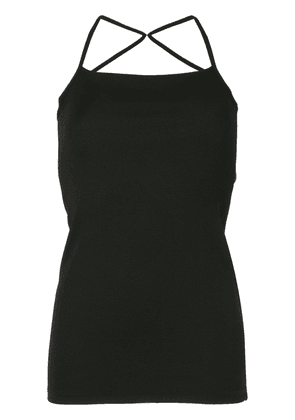 Christopher Esber crossback strap fitted vest top - Black