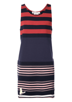 Marni striped tank sweatshirt - Blue
