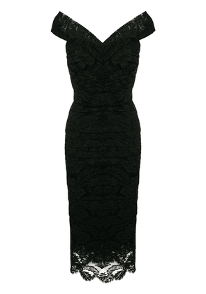 Dolce & Gabbana ruched lace dress - Black