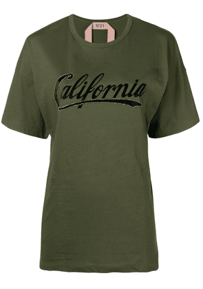 No21 California short-sleeve T-shirt - Green