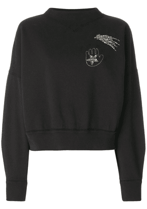 Isabel Marant Odilon embroidered sweatshirt - Black