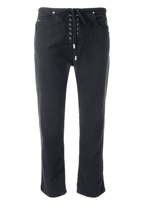 Isabel Marant cropped lace-up trousers - Black
