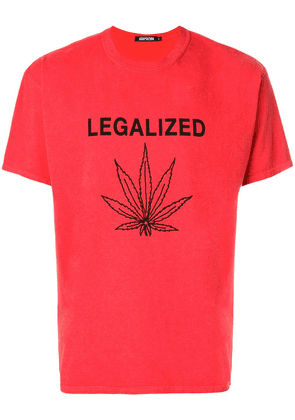Adaptation legalized print T-shirt - Red