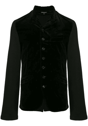 Ann Demeulemeester velvet button jacket - Black