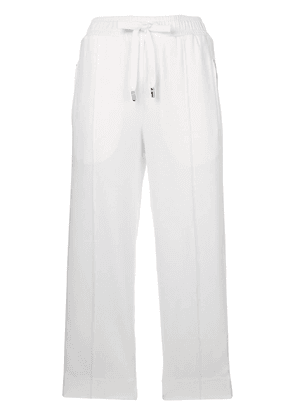 Dolce & Gabbana #DGLIFE cropped trim trousers - White