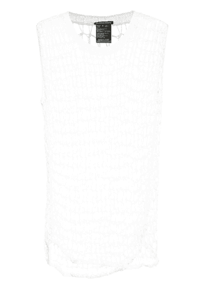 Ann Demeulemeester open knit tank top - White
