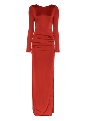 Galvan Backless Corona dress with Rear Knot - Red