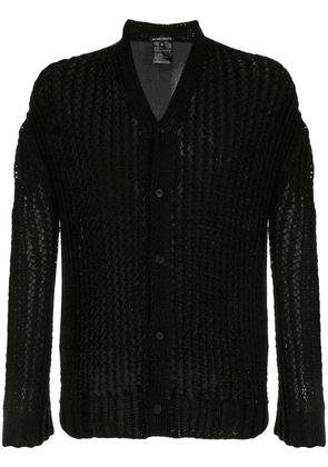 Ann Demeulemeester open knit cardigan - Black