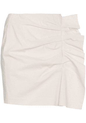 Isabel Marant LeFly Side Frill Pencil Skirt - White