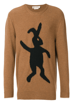 Marni bunny-intarsia jumper - Brown