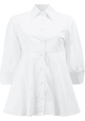 Alexis flared A-line shirt - White