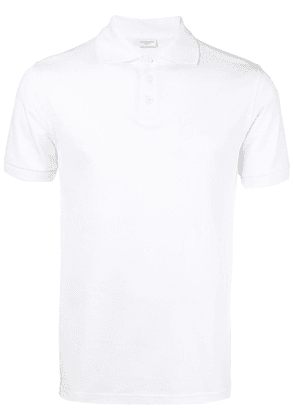 Saint Laurent piqué polo shirt - White