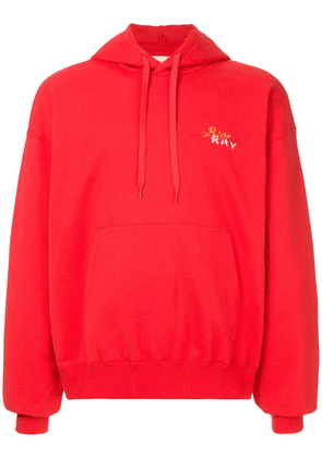 Doublet back embroidered hoodie
