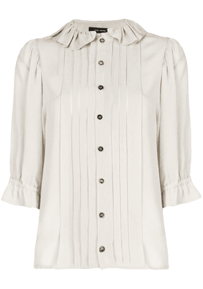 Isabel Marant pleated button shirt - Neutrals
