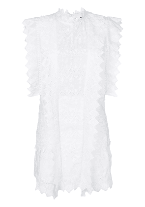 Isabel Marant broderie anglaise dress - White