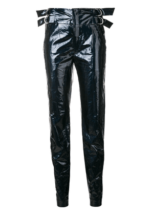 Isabel Marant side buckled trousers - Blue