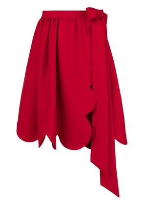 Valentino scalloped trim skirt - Red