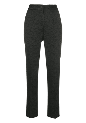 Dolce & Gabbana cropped high waisted trousers - Black