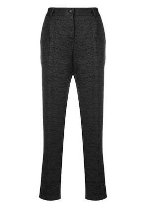 Dolce & Gabbana brocade cropped trousers - Black