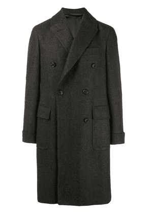 Caruso double breasted coat - Grey