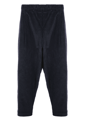 Casey Casey elastic waist cropped trousers - Blue