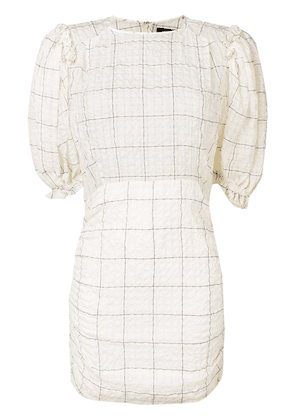 Isabel Marant check print mini dress - Neutrals