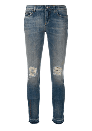 Dolce & Gabbana ripped skinny jeans - Blue