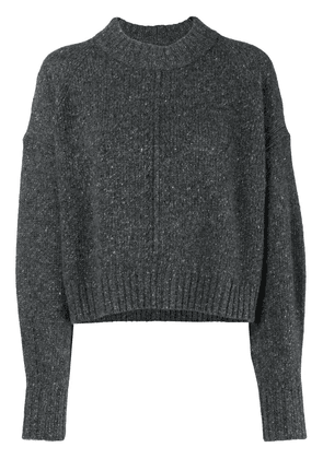 Isabel Marant long-sleeve fitted sweater - Grey
