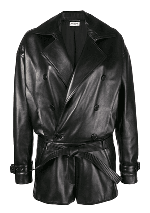 Saint Laurent belted playsuit - Black