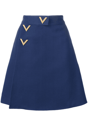 Valentino V hardware dress - Blue