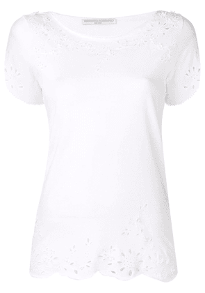 Ermanno Scervino embroidered detail T-shirt - White