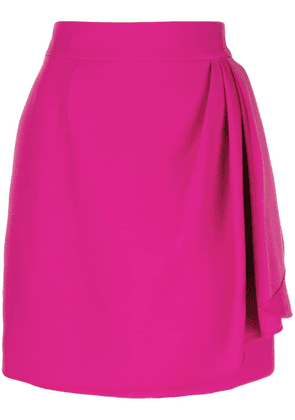 Valentino wrap front mini skirt - Pink
