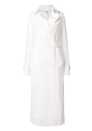 d841d1c56c3d Givenchy belted fitted trench coat - White