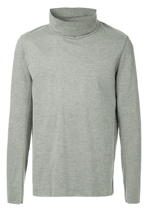 Attachment turtleneck sweatshirt - Grey