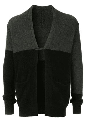 Attachment colour-block cardigan - Black