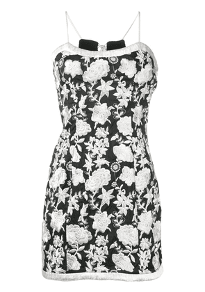 Alexis embroidered floral dress - Black