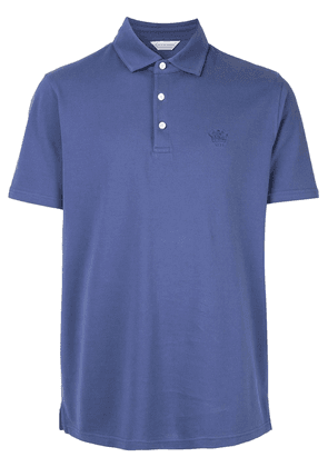 Gieves & Hawkes embroidered logo polo shirt - Purple