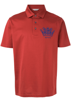 Gieves & Hawkes logo polo shirt - Red