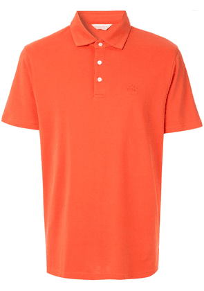 Gieves & Hawkes logo embroidered polo top - Orange