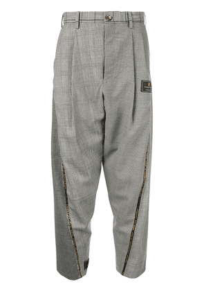 Doublet contrast panel trousers - Grey