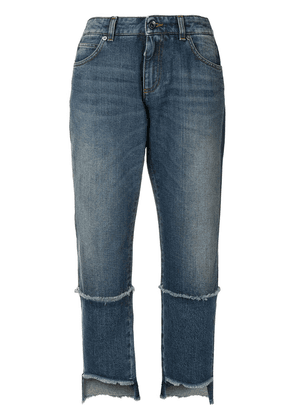 Dolce & Gabbana cropped frayed jeans - Blue