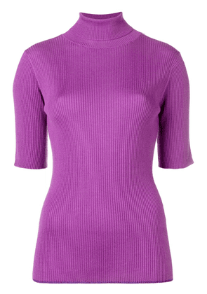 Cashmere In Love shortsleeved sweater - Purple