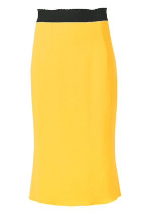 Dolce & Gabbana fitted pencil skirt - Yellow