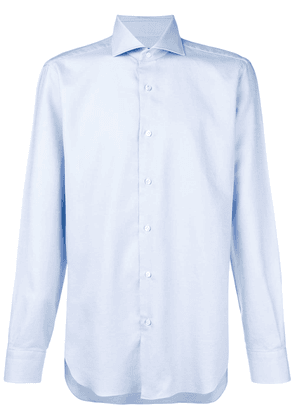 Barba long-sleeve fitted shirt - Blue