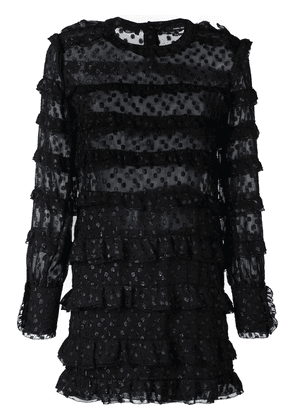 Isabel Marant ruched open panel dress - Black
