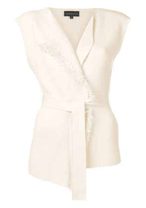 Cashmere In Love sleeveless knitted top - White