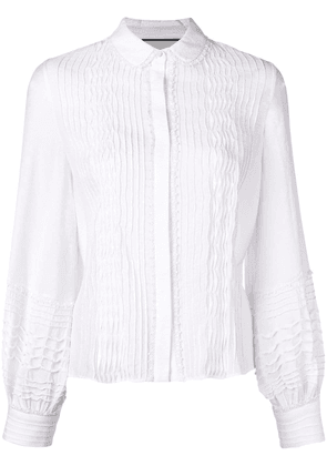 Alexis pleated front shirt - White