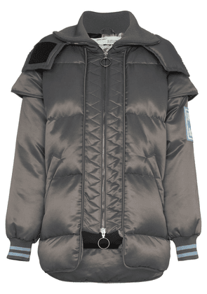 Off-White hooded puffer jacket - Grey