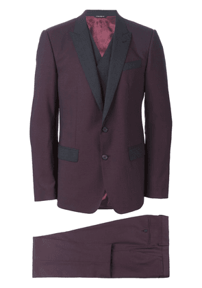 Dolce & Gabbana bi-colour three piece suit - Red