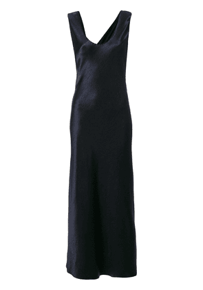 Theory fitted flared maxi dress - Blue
